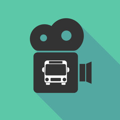 Long shadow camera with  a bus icon