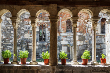 Medieval monastery built over the ruins of the ancient Apollonia town, Albania