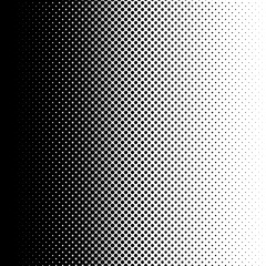 Gradient halftone dots background. Pop art template. Black and white texture. Vector illustration
