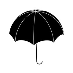 Umbrella silhouette, outline vector symbol icon design.