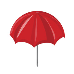 red sun Umbrella vector symbol icon design.