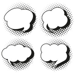 Speech bubble templates in grayscales