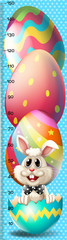 Growth mearsuring chart with easter bunny