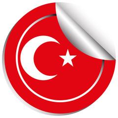 Sticker design for Turkey flag