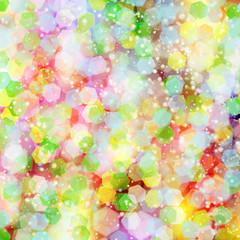 Colorful bokeh lights.