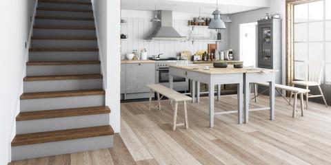 Küchenrenovierung (panoramisch)