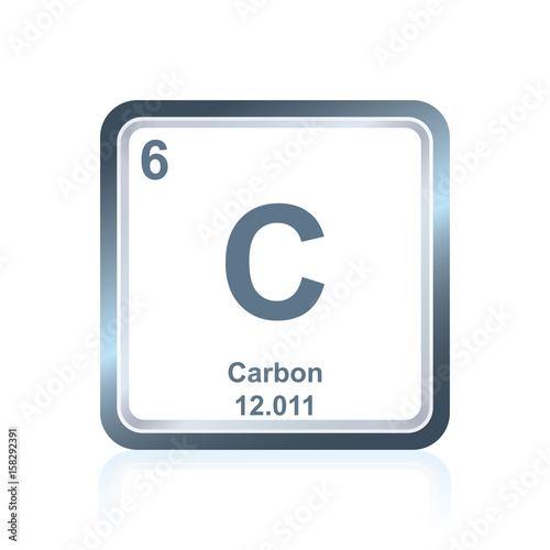 Symbol of chemical element carbon as seen on the periodic table of symbol of chemical element carbon as seen on the periodic table of the elements including urtaz Choice Image