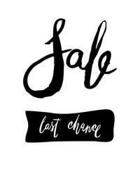 Sale Hand lettering