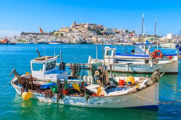 Wall Mural - Fishing boats in Ibiza (Eivissa) port on Ibiza island, Spain