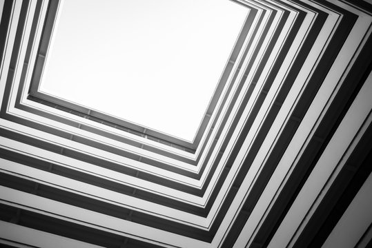 Abstract building in low angle view