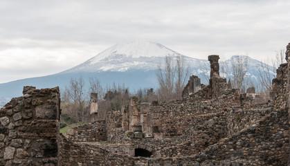 Mount Vesuvius in Pompeii, Italy