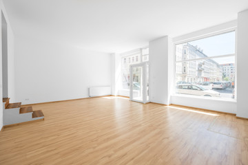 empty room, shop interior with shopping window Wall mural