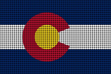Mosaic flag of Colorado - illustration, 