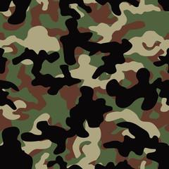 Seamless basic woodland camo pattern vector