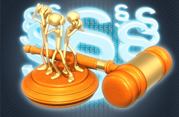 Law Concept See No Evil Hear No Evil Speak No Evil The Original 3D Characters Illustration