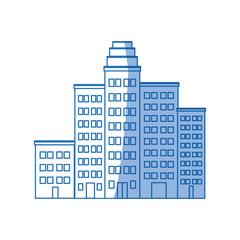 cartoon cityscape cartoon row of various buildings vector illustration