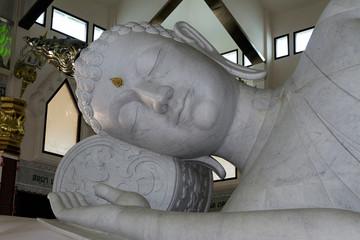 white marble Buddha sculpture spirituality udon thani