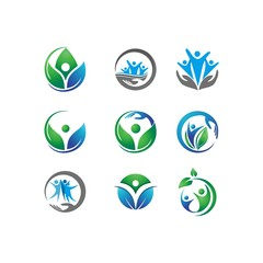 Eco People Logo Set