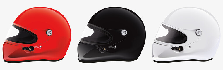 kit racing helmet vector