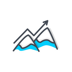 Business StartUp Mount Peak colored icon