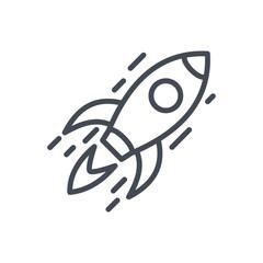Business StartUp Spaceship line Icon