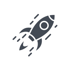 Business StartUp Spaceship silhouette Icon
