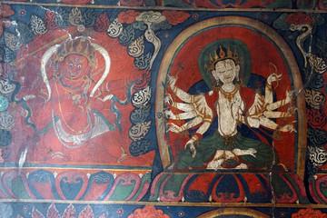 White Tara on the wall