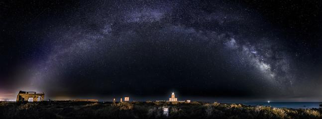 Milky Way over Tabarca Lighthouse