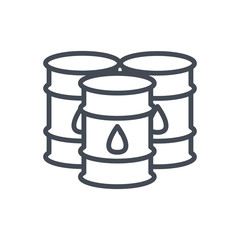 Trading Business Fuel Oil Drum line Icon