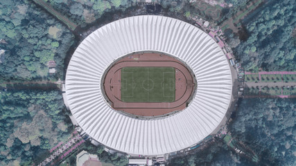 Spoed Fotobehang Stadion Football stadium in downtown Jakarta