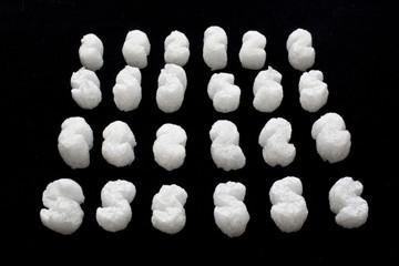 White Packing Peanut Foam