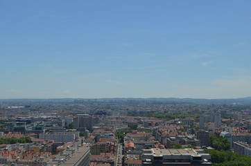 Vue en hauteur des toitures du quartier de la Part Dieu Lyon