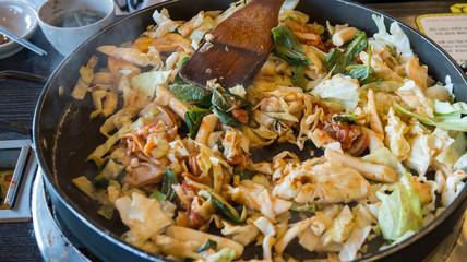 Korean spicy stir fried vegetable