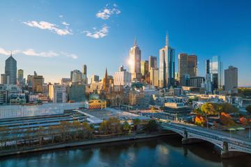 Fotomurales - Melbourne city skyline in Australia