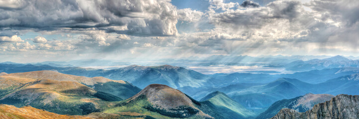 Mount Evans in Colorado on a clear day with gathering clouds Wall mural