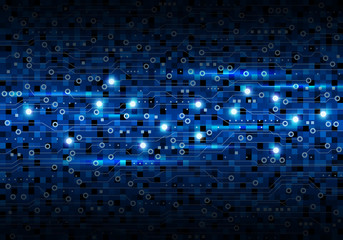 Vector blue circuit board background design for digital technology