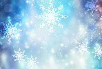 Winter holiday xmas blue illustration background.