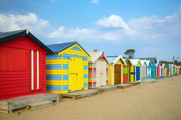 Colorful Beach House at Brighton Beach, Melbourne