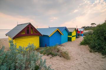 Fotobehang Zuid Afrika Colorful Beach House at Brighton Beach, Melbourne