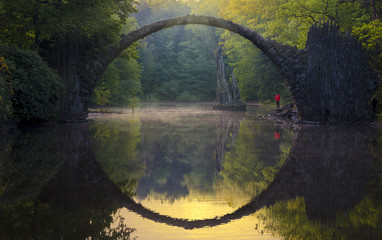 Devil's Bridge in Kromlau in saxony