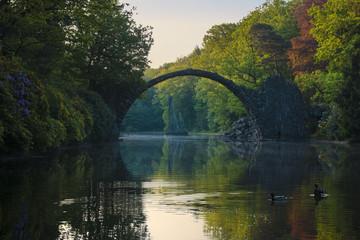 Devil's Bridge in Kromlau in saxony
