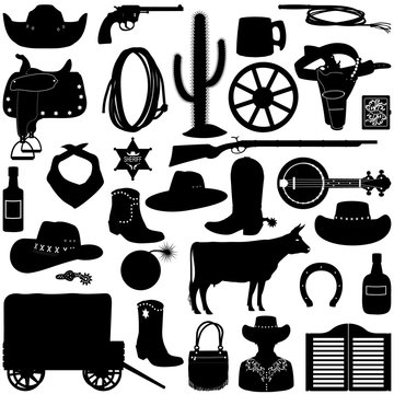 Vector Cowboy Pictograms
