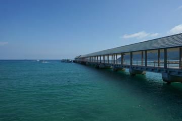 View of jetty of Tioman island in Malaysia