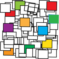 asymmetrical color cube, modern art design background pattern, geometry cubes