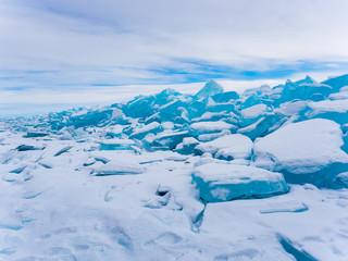 Ice blocks in Frozen Lake Baikal