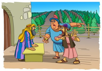 The Parable of Jesus Christ about the workers in the vineyard
