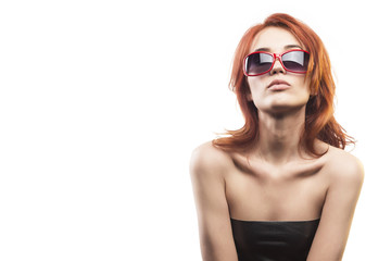 the redhead girl in sunglasses type 14