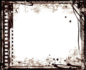 Grunge Vector Frame . Large Distressed Texture . Decorative Vintage Weathered Border. Great Grunge Background Or Retro Design Decor Element.