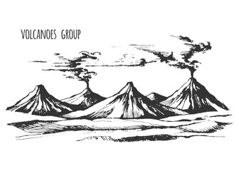 Volcanoes group landscape