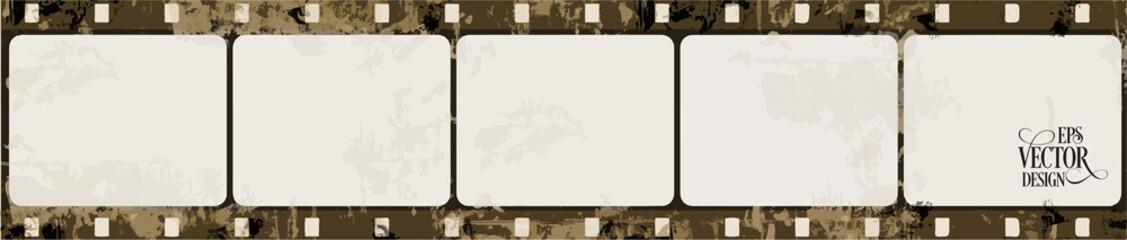 Grunge Vector Frame . Large Distressed Texture . Decorative Vintage Weathered Border. Great Grunge Background Or Retro Design Decor Element.